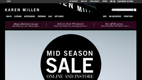 Karen Millen Ecommerce Website