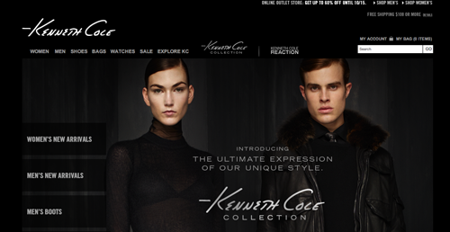 Kenneth Cole Ecommerce Website