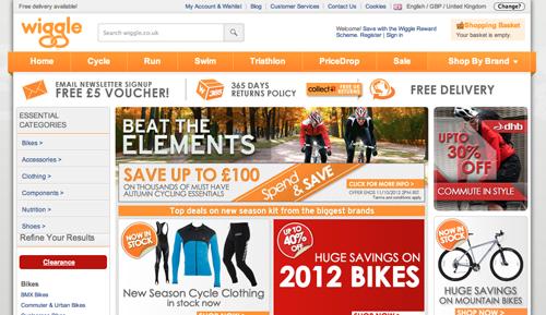 Wiggle Ecommerce Website