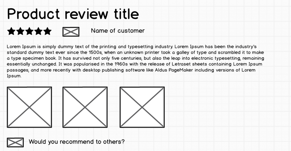 Multi media product review mock up