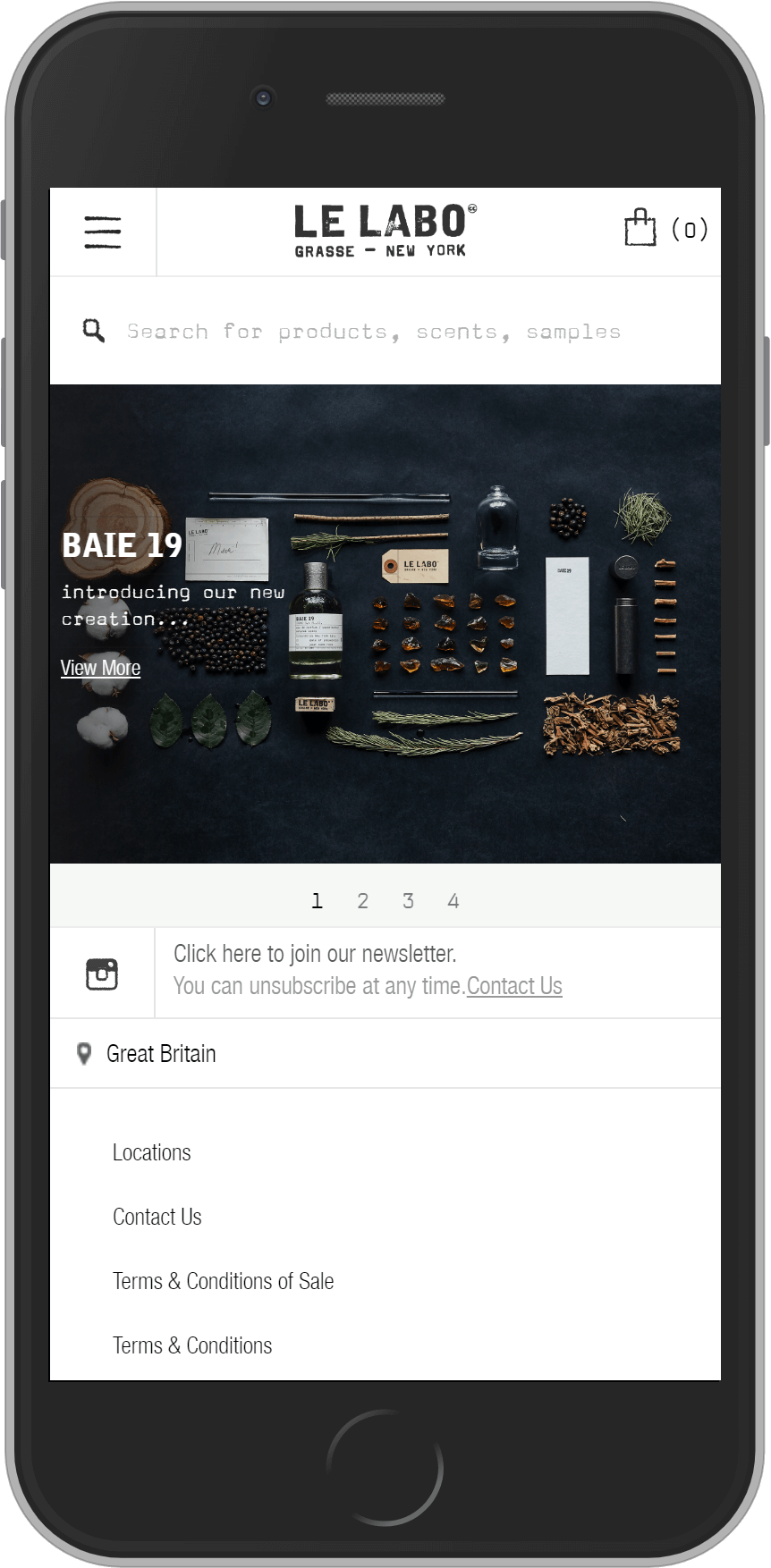 Le Labo on mobile